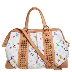 Louis Vuitton White Monogram Multicolore Canvas Courtney GM Bag