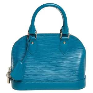 Louis Vuitton Cyan Epi Leather Alma BB Bag