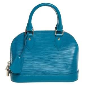 حقيبة لوي فيتون ألما بي بي جلد إيبي أزرق سماوي