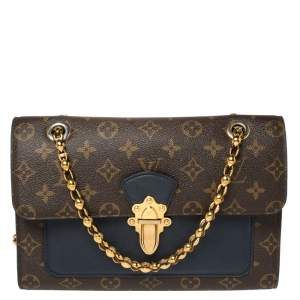 Louis Vuitton Blue/Brown Monogram Canvas Victoire Bag