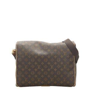 Louis Vuitton Brown Canvas Messenger Bag