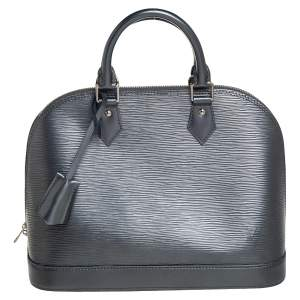 Louis Vuitton Anthracite Nacre Epi Leather Alma PM Bag