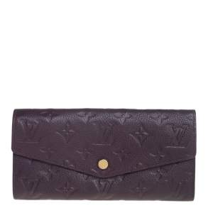 Louis Vuitton Flamme Monogram Empreinte Leather Sarah Wallet