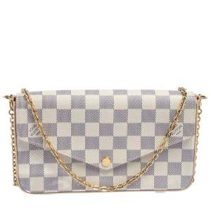 Louis Vuitton  Damier Azur Canvas Felicie Pochette