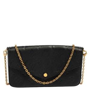 Louis Vuitton Black Monogram Empreinte Leather Felicie Pochette