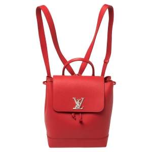 Louis Vuitton Rubis Calfskin Leather Lockme Backpack