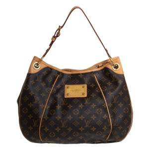 Louis Vuitton Brown Monogram Canvas and Leather Galliera PM bag
