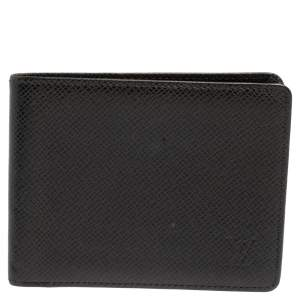 Louis Vuitton Black Taiga Leather Bifold Wallet