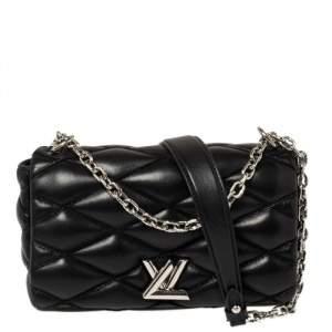 حقيبة لوي فيتون ميني غو-14 مالتيغ جلد مبطنة أسود