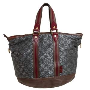 Louis Vuitton Khaki Jacquard Monogram Fabric and Leather Limited Edition Aviator Bag