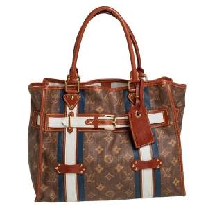 Louis Vuitton Monogram Canvas Limited Edition Tissue Rayures GM Bag