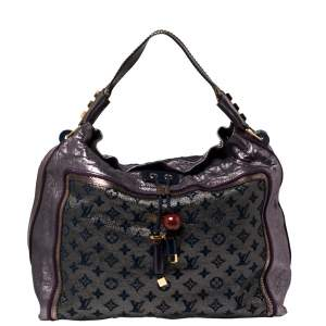 Louis Vuitton Purple Monogram Lurex Limited Edition Bluebird Bag