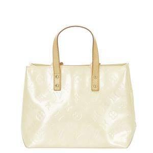 Louis Vuitton Cream Monogram Vernis Reade PM Bag