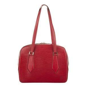 Louis Vuitton Red Epi Leather Voltaire Bag