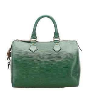 Louis Vuitton Green Epi Leather Speedy 25 Bag