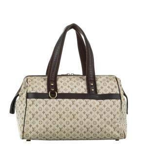 Louis Vuitton White/Brown Monogram Mini Lin Canvas Josephine GM Bag