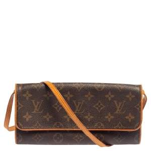 Louis Vuitton Monogram Canvas Twin Pochette GM Bag