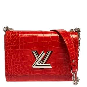 Louis Vuitton Rubis Alligator Twist MM Bag