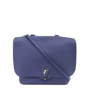 Louis Vuitton Blue Leather Volta Shoulder Bag