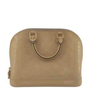 Louis Vuitton Beige Vernis Leather Alma Bag