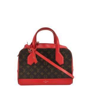 Louis Vuitton Red Monogram Canvas Leather Dora Bag