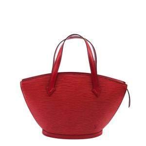 Louis Vuitton Red Leather Saint Jacques GM Bag