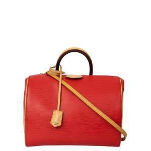 Louis Vuitton Red Epi Leather Doc Shoulder Bag