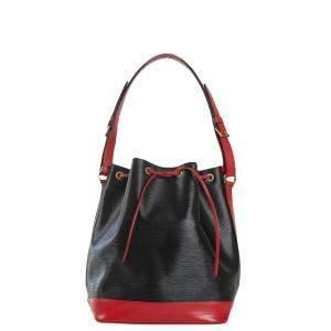 Louis Vuitton Black Leather Noe Shoulder Bag