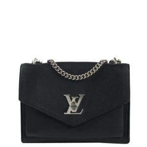 Louis Vuitton Black Leather Lockme Bag