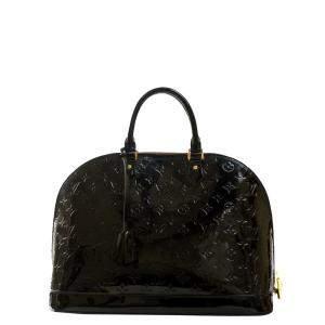 Louis Vuitton Blue Vernis Patent Leather Alma Bag