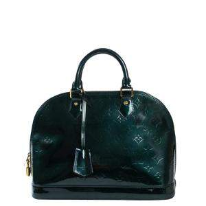 Louis Vuitton Green Monogram Vernis Leather Alma Bag
