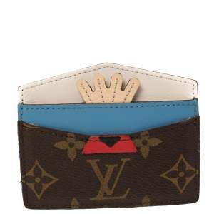 Louis Vuitton Monogram Canvas Tribal Mask Card Holder