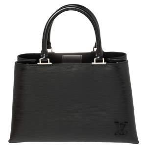 Louis Vuitton Black Epi Leather Kleber MM Bag