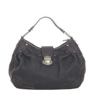 Louis Vuitton Black Mahina Leather Solar PM Bag