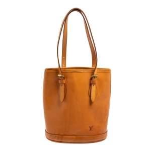 Louis Vuitton Natural Vachetta Leather Limited Edition Petit Bucket Bag