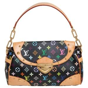 Louis Vuitton Black Monogram Multicolore Canvas and Leather Beverly MM Bag