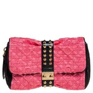 Louis Vuitton Pink/Black Monogram Satin and Vernis Limited Edition Coquette Pochette