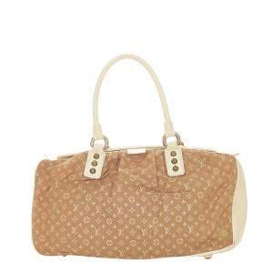 Louis Vuitton Brown Fabric Cotton Satchel