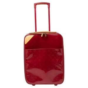 حقيبة سفر لوي فيتون بيغاس 45 فيرنس موغرامي أحمر