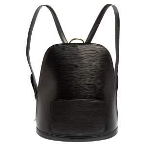 حقيبة ظهر لوي فيتون جوبلنس جلد إيبي أسود