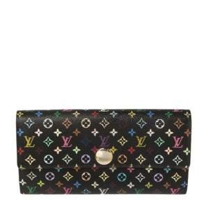 محفظة لوي فيتون سارة كانفاس مونوغرام أسود متعدد الألوان