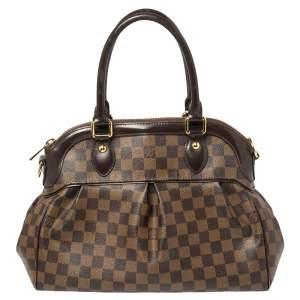 Louis Vuitton Damier Ebene Canvas and Leather Trevi PM Bag