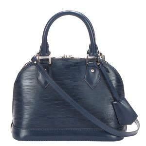 Louis Vuitton Blue Epi Leather Alma BB Bag