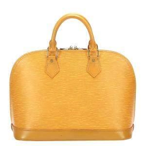 Louis Vuitton Yellow Epi Leather Alma PM Bag