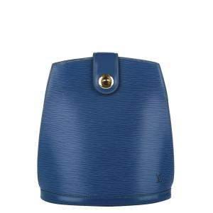 Louis Vuitton Blue Epi Leather Cluny Bag