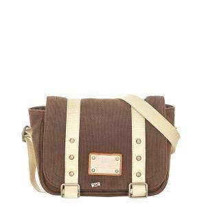 Louis Vuitton Brown Canvas Fabric Antigua Besace PM Shoulder Bag