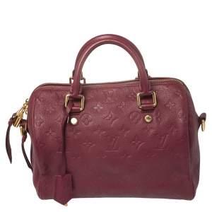 Louis Vuitton Aurore Monogram Empreinte Leather Speedy Bandoulière 25 Bag