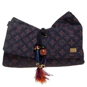 Louis Vuitton Indigo Monogram Metisse African Queen Clutch