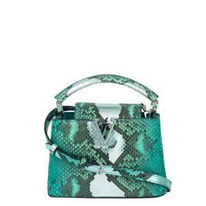 Louis Vuitton Green Python Leather Capucines BB (2019) Bag