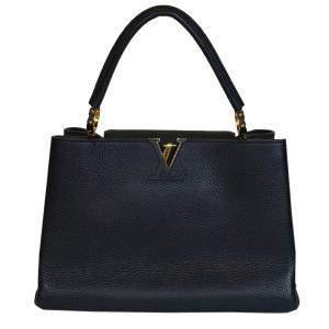 Louis Vuitton Black Taurillon Leather Parnasséa Capucines MM Bag